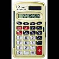 Калькулятор с крышкой kenko 6678/6677a, 8-разрядный, кнопки из прозрачного пластика, память, двойное питание