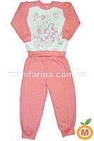Пижама для девочки теплая розовая 122 размер