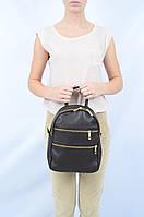 Рюкзак-сумка кожаный с молниями маленький