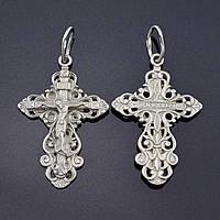 Серебряный крестик Православный, размер 31*21 мм, вес серебра 2.79 г