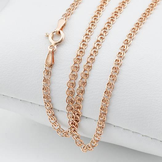 """Серебряная цепочка позолоченная """"Love"""", ширина 2 мм, вес 3.7 г, длина 50 см"""