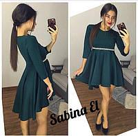 Платье с завышенной талией и расклешенной юбкой 703558