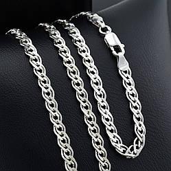 """Серебряная цепочка """"Нонна"""", длина 50 см, ширина 5 мм, вес серебра 11.86 г"""