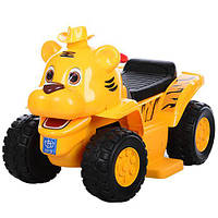 Детский электрический толокар-квадроцикл 606CB желтый