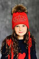 Зимняя шапка с меховым помпоном M