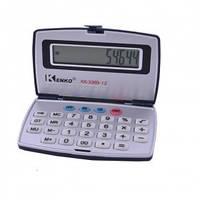 Компактный калькулятор kenko kk-3369, корпус-книжка, 12 разрядов, автоотключение, питание от батарейки, фото 1