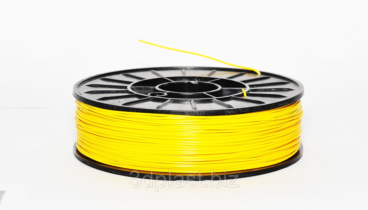 PLA пластик для 3D печати,1.75 мм, 0.75 кг 0.75, Желтый