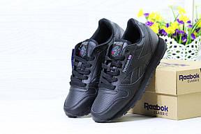 Женские,подростковые кроссовки Reebok, Рибок черные, фото 3