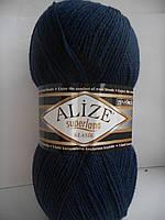 Пряжа Ализе Суперлана Классик №58 темно-синий
