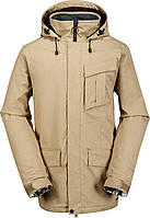 Мужская горнолыжная куртка Volcom Men's Mails Insulated Jacket, Khaki, Small, фото 1