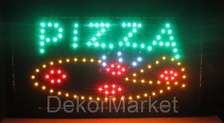 """Светодиодная Вывеска """"Pizza"""" 48х25сm, фото 2"""