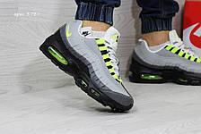 Кроссовки мужские Nike air max 95,серые с салатовым, фото 3