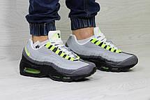 Кроссовки мужские Nike air max 95,серые с салатовым, фото 2