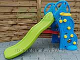 Детская горка с баскетбольным кольцом 2в1  135 см, фото 5