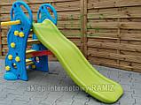 Детская горка с баскетбольным кольцом 2в1  135 см, фото 6
