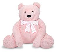 Большой плюшевый розовый мишка Melissa&Doug