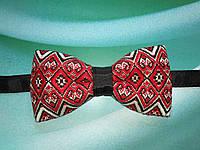 Метелик Вишиванка з червоно-чорним орнаментом Аксесуари в українському стилі, фото 1