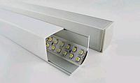 Угловой двухрядный профиль для светодиодной ленты YF105-1 (2м) анодированный с рассеивателем