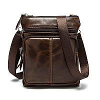 "Мужская кожаная сумка ""Кент Coffe"", фото 1"