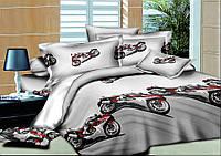Детское постельное белье Мотоциклы 150*220 хлопок (8560) TM KRISPOL Украина
