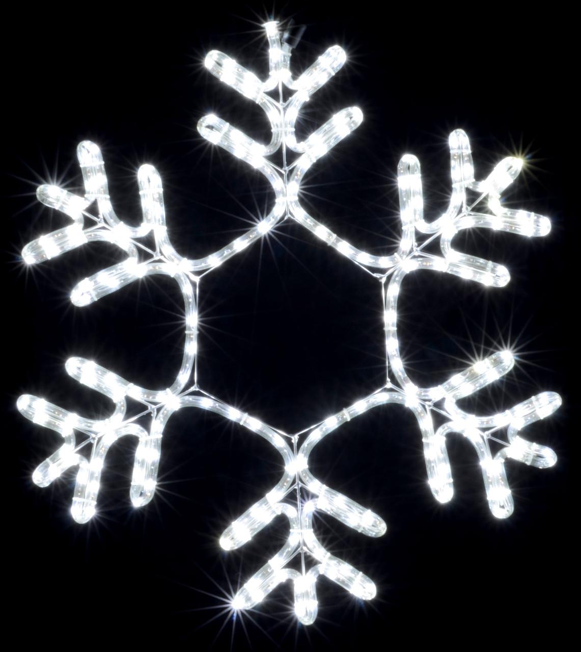 Гирлянда внешняя DELUX MOTIF Snowflake 55см 12 flash белый EN IP44