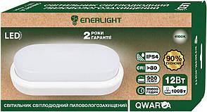 LED світильник пиловологозахищений ENERLIGHT QWARTA 12Вт 4100К