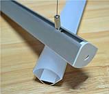 Кутовий дворядний профіль для світлодіодної стрічки YF106-1 (2м) з розсіювачем, фото 2