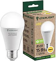 Лампа светодиодная ENERLIGHT A60 15Вт 3000K E27