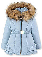 Детская зимняя куртка на девочку серая, р.98,110