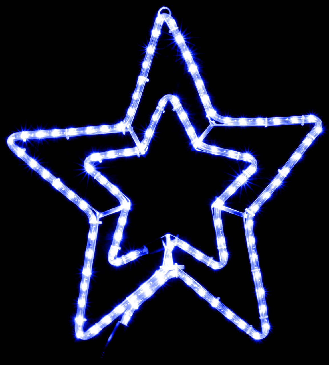 Гирлянда внешняя DELUX MOTIF Star 54см синий IP44 EN