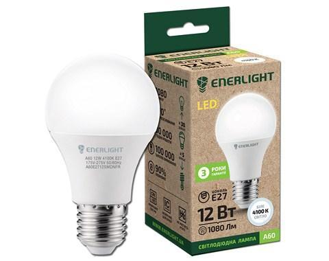 Лампа светодиодная ENERLIGHT A60 12Вт 4100K E27