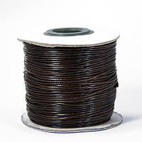Шнур Вощеный Полиэстер, подходит для плетения браслетов, Цвет: Коричневый, Размер: Толщина 1мм, (УТ100005723)