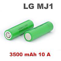 Высокотоковый аккумулятор LG 18650-MJ1 3500mA 10А, оригинал