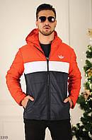 Куртка мужская с капюшоном трехцветная плащевка 46,48,50,52