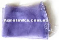 Сетка овощная 15кг с ячейкой 2мм фиолетовая (40х55) с завязкой (100 шт)