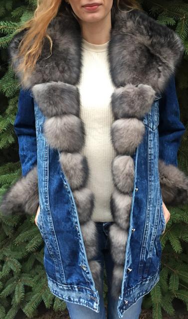 Джинсові куртки з хутром