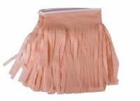 Бумажная гирлянда из тишью персиковая (прямая) 3м