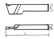 Резец токарный отрезной 16х12х100 Т15К6 ГОСТ 18884 Украина