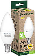 Лампа светодиодная ENERLIGHT С37 5Вт 3000K E14