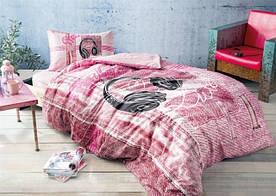 Постельное белье Tac Ranforce Teen - Listen розовый подростковое
