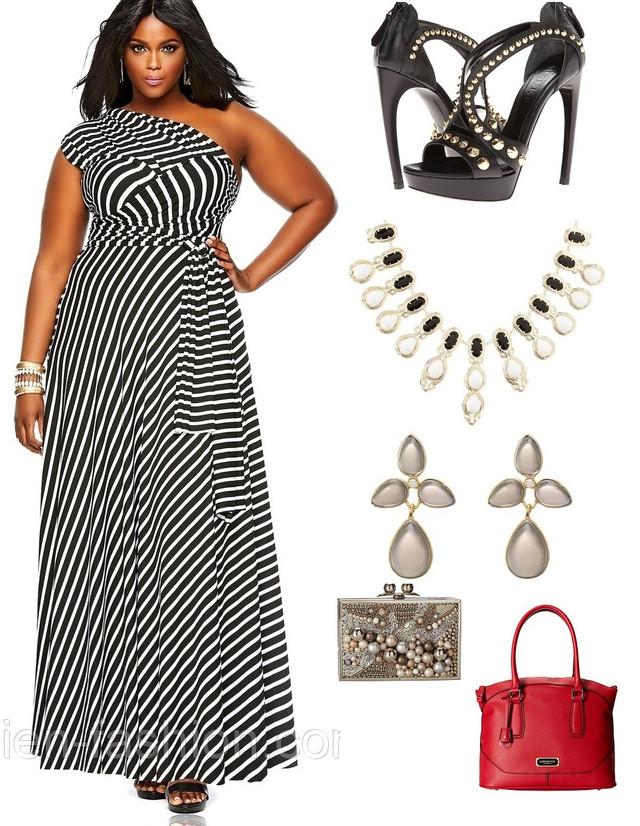 Платье длинное в пол с животным принтом зебры черно белое большого размера для полных