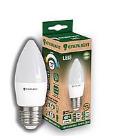 Лампа светодиодная ENERLIGHT С37 6Вт 3000K E27