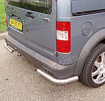 Защита заднего бампера Углы на Ford Connect (2001-2013)