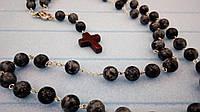 Розарий Сапфировый кварц, четки розарий из натурального камня, четки католические, розарий классический