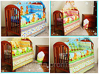 Постельные комплекты в кроватку из 7 эл. (без балдахина)
