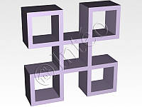 Мебельная перегородка Домино, 1094*1094*293мм
