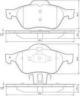 Колодка тормозной RENAULT (GRAND)ESPACE/LAGUNA передний (Производство ABS) 37217, фото 1