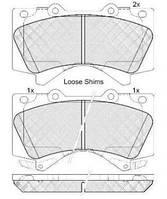 Колодка тормозной TOYOTA LANDCRUISER V8 передний (Производство ABS) 37701