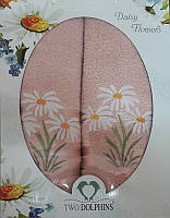 Набор махровых полотенец Daisy flowers persik