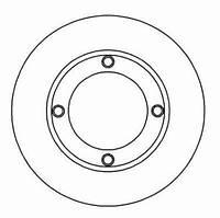 Диск тормозной ВАЗ 2101 передний (Производство ABS) 15025